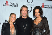 (L-R) Television personality  Jessica Canseco Celebrity Hair Stylist Chaz Dean and television personality Nicole Murphy arrive at Chaz Dean's Holiday Party Benefitting the Love is Louder Movement on December 1, 2012 in Los Angeles, California.