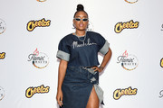 Angela Simmons attends as Cheetos unveiled fan-inspired versions of the #CheetosFlaminHaute look at The House Of Flamin' Haute Runway Show + Style Bar Experience during Fashion Week on September 05, 2019 in New York City.