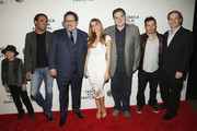 (L-R) Jon Favreau, Sofia Vergara, Emjay Anthony, Oliver Platt, John Leguizamo and Tom Ortenberg attend the 'Chef' Premiere during the 2014 Tribeca Film Festival at BMCC Tribeca PAC on April 22, 2014 in New York City.