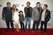 (L-R) Jon Favreau, Sofia Vergara, Emjay Anthony, Oliver Platt and John Leguizamo attend the 'Chef' Premiere during the 2014 Tribeca Film Festival at BMCC Tribeca PAC on April 22, 2014 in New York City.