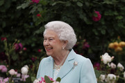 Queen Elizabeth II arrives at Chelsea Flower Show press day at Royal Hospital Chelsea on May 23, 2016 in London, England. The show, which has run annually since 1913 in the grounds of the Royal Hospital Chelsea, is open to the public from 24-28 May.