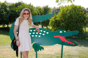 Chelsea Leyland LACOSTE Beautiful Desert Pool Party - Day 2