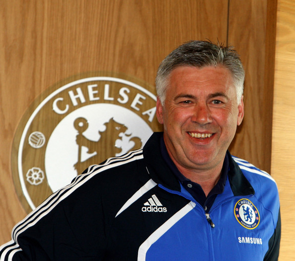 Carlo Ancelotti Carlo Ancelotti, manager of Chelsea, smiles at a press conference held at Chelsea FC Training ground on July 8, 2009 in Cobham, Surrey.