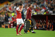 Mesut Ozil of Arsenal looks dejected as he is substituted off during the UEFA Europa League Final between Chelsea and Arsenal at Baku Olimpiya Stadionu on May 29, 2019 in Baku, Azerbaijan.