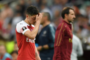 Mesut Ozil of Arsenal looks dejected as he walks off to be subbed during the UEFA Europa League Final between Chelsea and Arsenal at Baku Olimpiya Stadionu on May 29, 2019 in Baku, Azerbaijan.