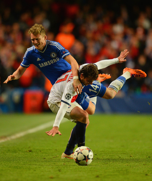Photos Chelsea Vs Paris Saint Germain: Maxwell In Chelsea V Paris Saint-Germain FC