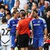 Fernando Torres Mike Dean Photos - Fernando Torres of Chelsea is sent off by referee Mike Dean during the Barclays Premier League match between Chelsea and Swansea City at Stamford Bridge on September 24, 2011 in London, England. - Chelsea v Swansea City - Premier League
