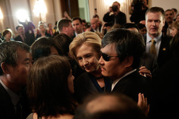 Chen Guangcheng Hillary Clinton Awarded the Lantos Human Rights Prize
