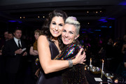 "Stephanie J. Block and guest pose at ""The Cher Show"" Broadway Opening Night - After Party at Pier 60 on December 03, 2018 in New York City."
