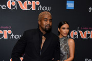 """Kanye West and Kim Kardashian West arrive at """"The Cher Show"""" Broadway Opening Night at Neil Simon Theatre on December 03, 2018 in New York City."""