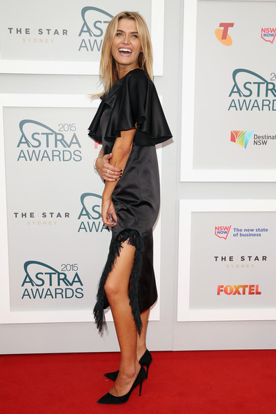 Arrivals at the ASTRA Awards [red carpet,clothing,carpet,shoulder,dress,leg,footwear,fashion,hairstyle,joint,arrivals,cheyenne tozzi,sydney,australia,astra awards,the star]