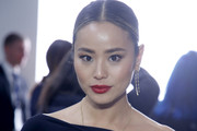 Jamie Chung attends the Chiara Boni front row during New York Fashion Week: The Shows at Gallery II at Spring Studios on February 08, 2020 in New York City.
