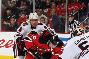 Sean O'Donnell Chicago Blackhawks v New Jersey Devils