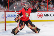 Craig Anderson #41 of the Ottawa Senators makes a glove save against the Chicago Blackhawks in the third period at Canadian Tire Centre on October 4, 2018 in Ottawa, Ontario, Canada.