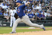 Jon Lester #34 of the Chicago Cubs pitches against the Chicago White Sox during the first inning on July 27, 2017 at Guaranteed Rate Field in Chicago, Illinois.