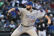 Jon Lester #34 of the Chicago Cubs pitches against the Chicago White Sox during the first inning on September 22, 2018 at Guaranteed Rate Field  in Chicago, Illinois.