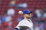 Jon Lester #34 of the Chicago Cubs pitches in the first inning of a game against the Cincinnati Reds at Great American Ball Park on April 21, 2017 in Cincinnati, Ohio.