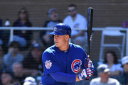 Anthony Rizzo #44 of the Chicago Cubs gets ready in the batters box during the first inning of a spring training game against the Colorado Rockies at Salt River Fields at Talking Stick on March 5, 2018 in Scottsdale, Arizona.