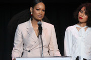 Garcelle Beauvais (L) and Jurnee Smollett-Bell speak at the Children's Defense Fund California's 28th Annual Beat The Odds Awards at Skirball Cultural Center on December 6, 2018 in Los Angeles, California.