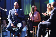 Bernie Williams, Allyson Felix and Andy Adler speak on stage during the Children's Health Fund Annual Benefit 2019 on June 05, 2019 in New York City.