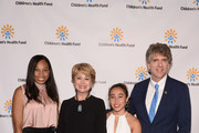 (L-R) Allyson Felix, Jane Pauley, Katelyn Ohashi and Children's Health Fund Executive Director Dennis Walto attend the Children's Health Fund Annual Benefit 2019 on June 05, 2019 in New York City.