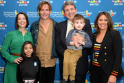 (L-R) Alex Carter, Kairi, Chris Pine, Paul S. Viviano, Elliot, and Dawn Wilcox attend the Children's Hospital Los Angeles fourth annual Make March Matter fundraising campaign kick-off event at Children's Hospital Los Angeles on March 04, 2019 in Los Angeles, California.