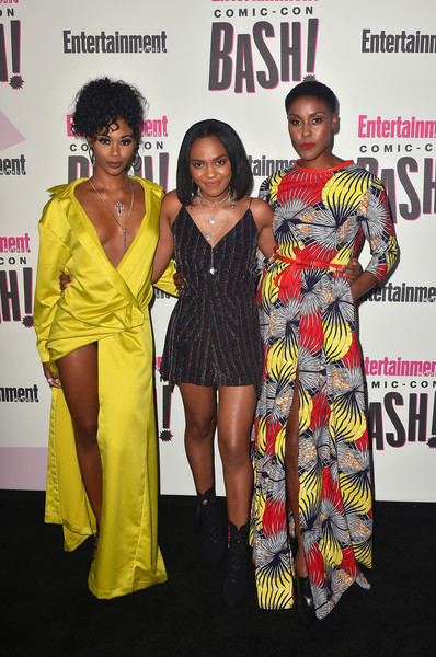 Entertainment Weekly Comic-Con Celebration - Arrivals [fashion,fashion design,event,premiere,red carpet,carpet,flooring,dress,award,style,entertainment weekly comic-con celebration - arrivals,nafessa williams,christine adams,china anne mcclain,l-r,float,san diego,entertainment weekly,hbo,comic-con bash]