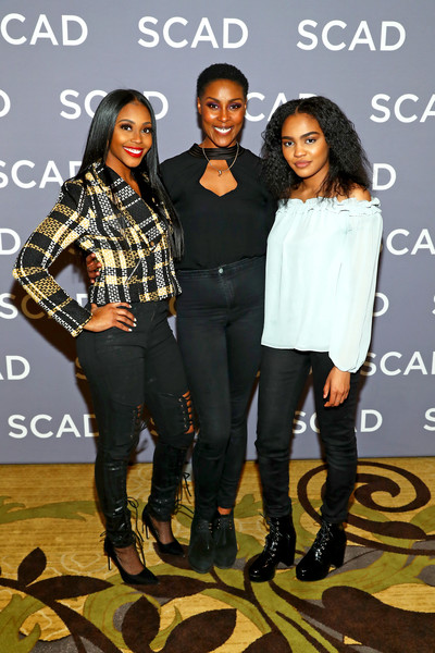 SCAD aTVfest 2018 -  'Black Lightning' [press junket,fashion,footwear,fashion design,event,performance,shoe,jeans,leggings,style,nafessa williams,china anne mcclain,christine adams,black lightning,georgia,atlanta,scad atvfest]