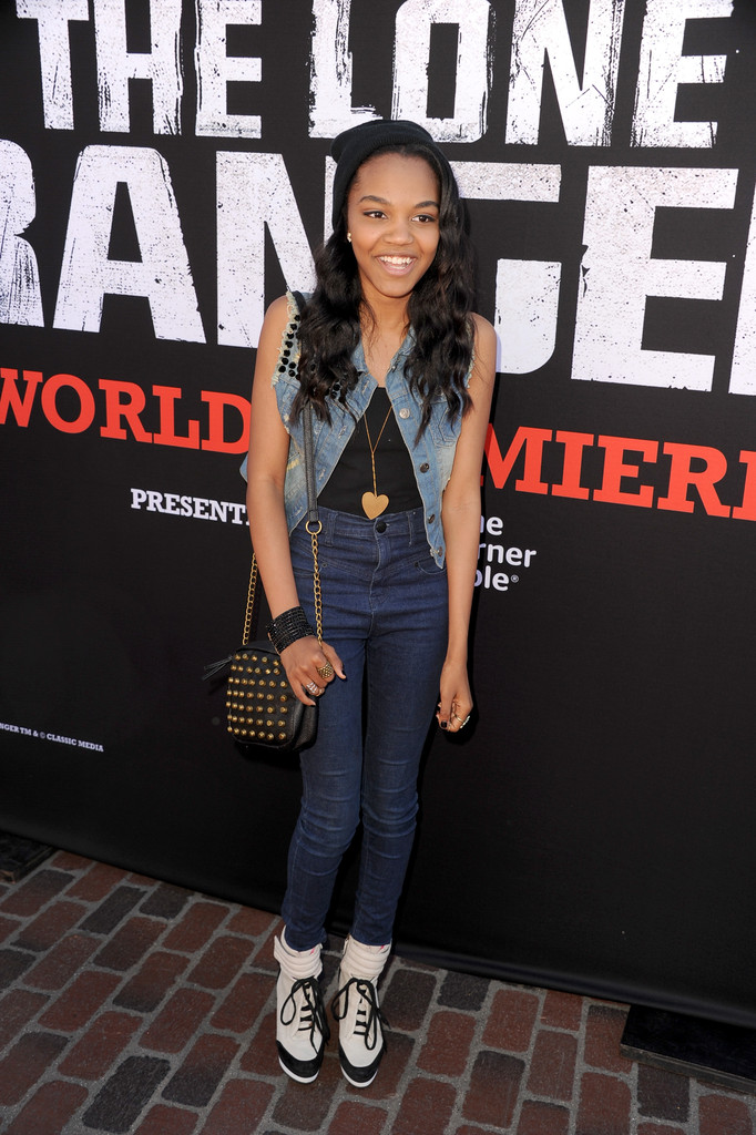 "China Anne Mcclain - Premiere Of Walt Disney Pictures' ""The Lone Ranger"" - Red Carpet"