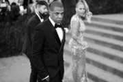 """Image has been digitally processed] Jay Z and Beyonce attend the """"China: Through The Looking Glass"""" Costume Institute Benefit Gala at the Metropolitan Museum of Art on May 4, 2015 in New York City."""
