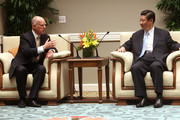 Jerry Brown and Xi Jinping Photos Photo
