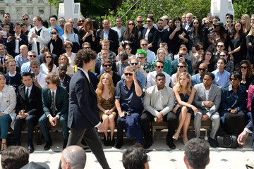 Chiwetel Ejiofor Burberry Menswear Spring/Summer 2016 - Front Row & Show