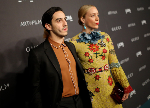 LACMA 2015 Art+Film Gala Honoring James Turrell and Alejandro G Inarritu, Presented by Gucci - Red Carpet [fashion,yellow,fashion design,event,carpet,fun,premiere,formal wear,suit,flooring,james turrell,chloe sevigny,ricky saiz,alejandro g inarritu,lacma,california,gucci,red carpet,l,lacma 2015 art film gala]