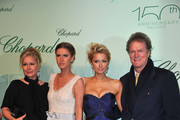 Kathy Hilton, Nicky Hilton, Paris Hilton and Rick Hilton attend the Chopard 150th Anniversary Party at Palm Beach, Pointe Croisette during the 63rd Annual Cannes Film Festival on May 17, 2010 in Cannes, France.