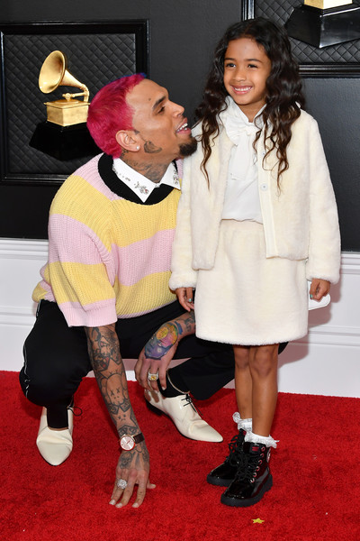 62nd Annual GRAMMY Awards - Arrivals [red carpet,carpet,fashion,flooring,premiere,footwear,event,outerwear,fashion design,fur,arrivals,royalty brown,chris brown,l-r,california,los angeles,staples center,annual grammy awards,chris brown,ariana grande,staples center,grammy awards,royalty,rhythm and blues,red carpet,contemporary r b,no guidance]