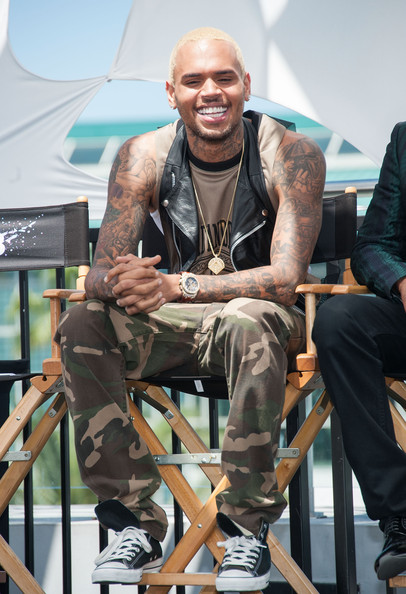 bbd2d43f1360 Chris Brown Photos Photos - Celebs at the BET Awards Press ...