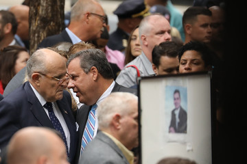 Chris Christie Anniversary Of September 11th Attacks On The U.S. Commemorated At World Trade Center Site