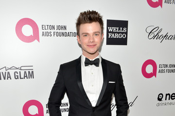 Chris Colfer Inside the Elton John AIDS Foundation Oscars Viewing Party