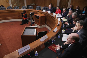 Chris Coons Senate Judiciary Committee Democrats Hold Meeting To Discuss Supreme Court Nominee Merrick Garland's Qualifications