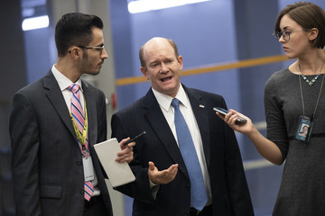 Chris Coons Members Of Congress Return To Capitol Hill Amidst New Kavanaugh Accusations