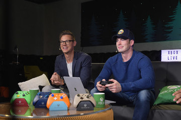 Chris Evans Chris Evans, Lauren Cohan, and Lil Jon Host a Celebrity Gaming Event and Xbox Live Session in Atlanta