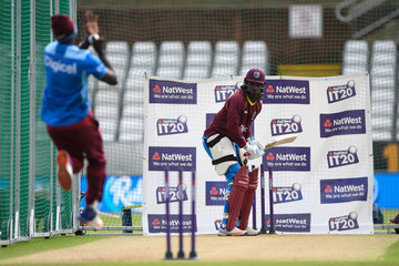 Chris Gayle England & West Indies Nets Session