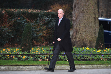 Chris Grayling Government Ministers Attend First Cabinet Meeting Of 2018