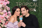 Ashley Iaconetti and Jared Haibon attend Chris Harrison's Seagram's Tropical Rosè launch party on March 11, 2020 in Los Angeles, California.