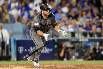 Chris Iannetta Divisional Round - Arizona Diamondbacks v Los Angeles Dodgers - Game Two