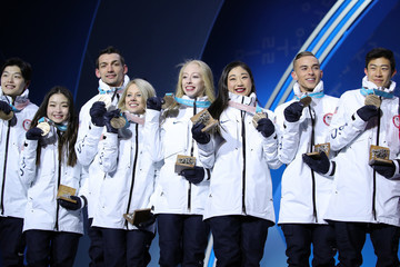 Chris Knierim Medal Ceremony - Winter Olympics Day 3