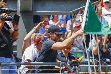 Chris Pine Celebrities Are Seen at the 100th Indianapolis 500
