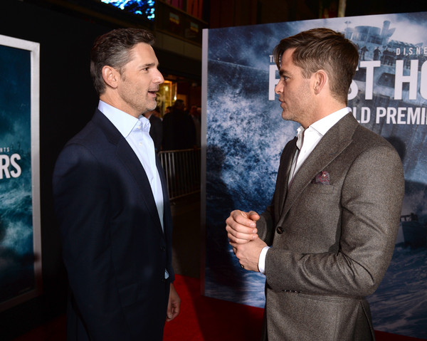 Premiere of Disney's 'The Finest Hours' - Red Carpet [the finest hours,premiere,suit,event,white-collar worker,businessperson,gesture,formal wear,flooring,carpet,official,actors,chris pine,eric bana,tcl chinese theatre,disney,red carpet,l,premiere,premiere]