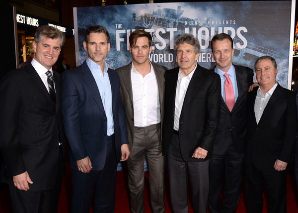 Premiere of Disney's 'The Finest Hours' - Red Carpet [the finest hours,motion picture productions,event,premiere,suit,white-collar worker,businessperson,team,jim whitaker,alan bergman,actors,president,walt disney,walt disney studios,red carpet,premiere]