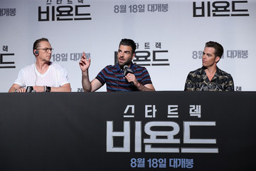Chris Pine Zachary Quinto 'Star Trek Beyond' Korea Press Conference and Photocall